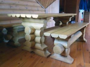 Мебель из оцилиндрованного бревна